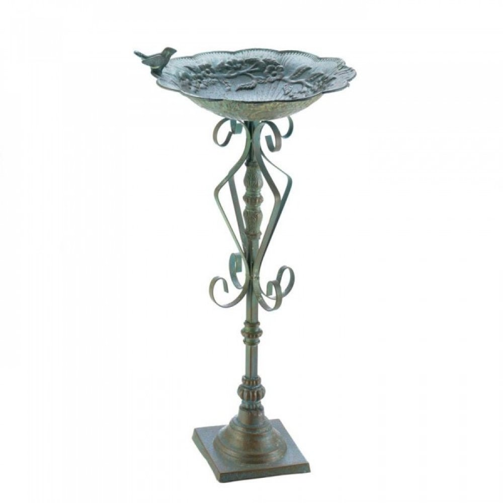 Speckled Green Birdbath
