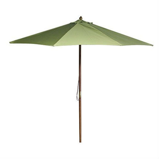 9-Foot Patio / Market Umbrella with Olive Green Canopy