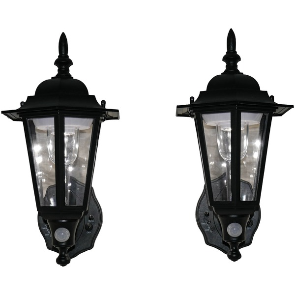 Maxsa Innovations Battery-powered Motion-activated Plastic Led Wall Sconce 2-pack (black)
