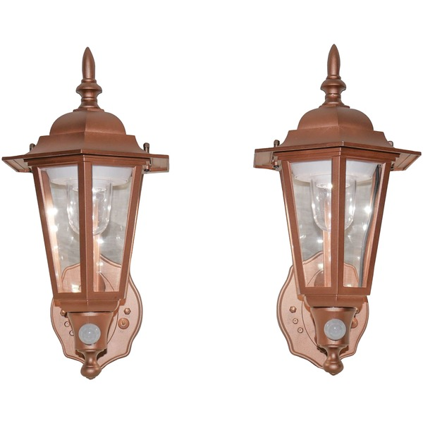 Maxsa Innovations Battery-powered Motion-activated Plastic Led Wall Sconce 2-pack (bronze)
